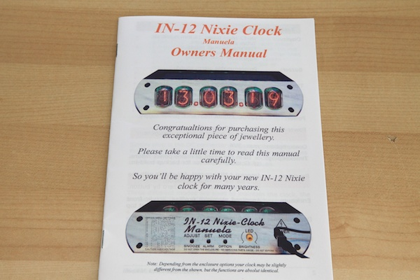IN-12 Clock Instructions