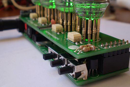 Warm Tube Nixie Clock