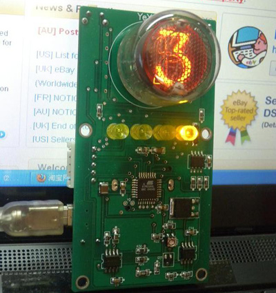 Single 16mm Digit Nixie Tube Clock