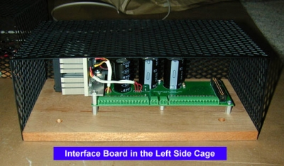 Interface board in cage